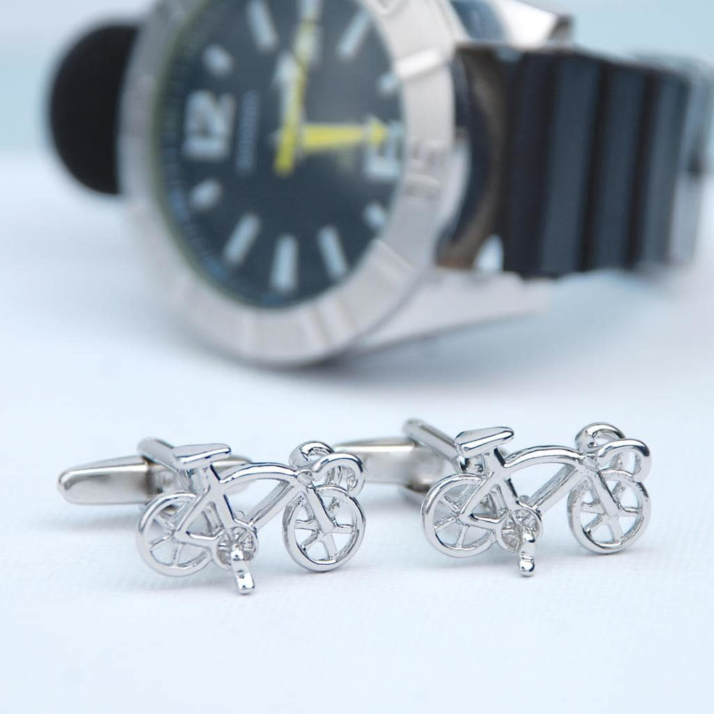 personalized racer bike cufflinks is one of best father's day gifts