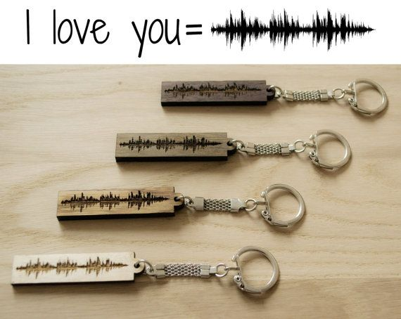 personalized song sound wave key ring one of best father's day gifts